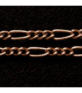 Łańcuch metalowy mieszane skręcone ogniwa 6x2.5mm i 2.5mm - 1m