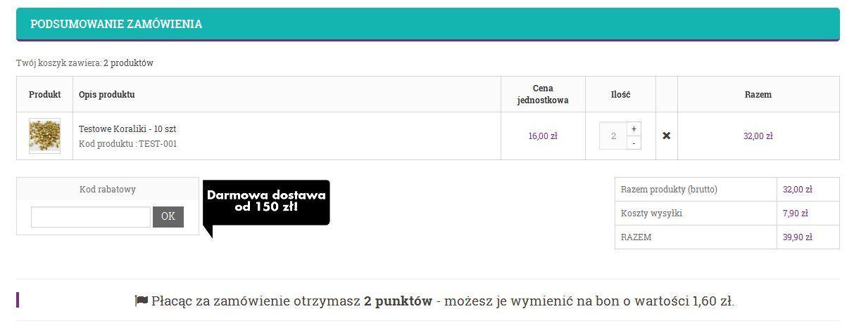 MBbeads.pl - Wymień punkty na kod rabatowy