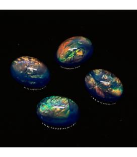 Kaboszon akrylowy opalizujący  13x18mm - 1szt