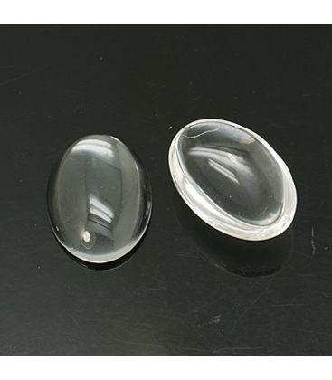 Kaboszon szklany 13x18mm - 10szt