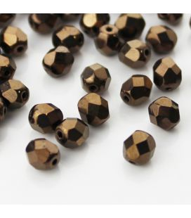 Fire Polish 6mm Dark Bronze - 60szt