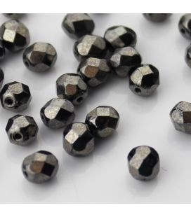 Fire Polish 6mm Hematite - 60szt