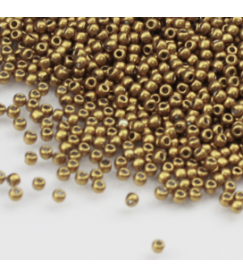 TOHO Round 08/0 Hybrid ColorTrends: Metallic - Spicy Mustard - 10g