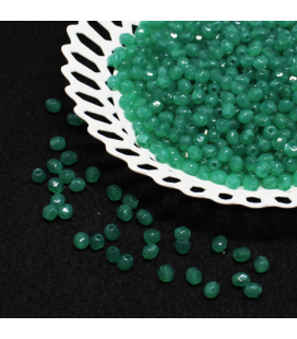 Fire Polish 3mm Alabaster Malachite Green  - 180szt