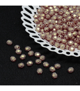 Fire Polish 4mm Sueded Gold Ruby - 120szt