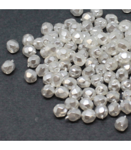 Fire Polish 3mm Crystal Pearl-Snow - 180szt