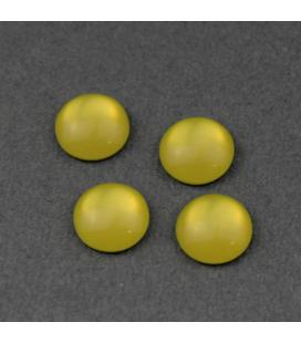 Kaboszon akrylowy Zielona Żółć 10mm - 4szt