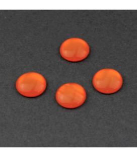 Kaboszon akrylowy Soczysta Mandarynka 10mm - 4szt