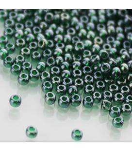 TOHO Round 11/0 Trans-Lustered Green Emerald - 10g
