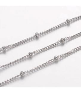 Łańcuch stalowy z kulkami 1.5mm - 0,5m