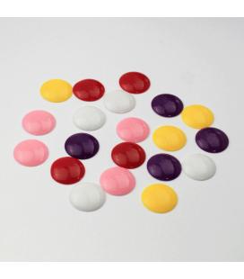 Kaboszon akrylowy miks kolorów 18mm - 20szt