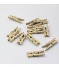 Spinacze drewniane 25mm - 10szt