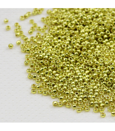 TOHO Round 11/0 Permafinish - Galvanized Yellow Gold - 30g