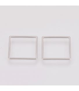 Łącznik ze stali szlachetnej, kwadrat o boku 16 mm - 3 szt