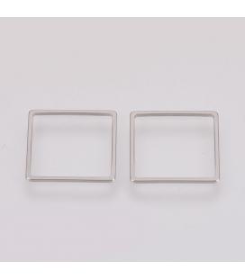 Łącznik ze stali szlachetnej, kwadrat - 3 szt