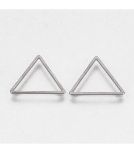 Zawieszka ze stali szlachetnej - trójkąt  - 1 szt