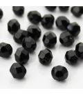 Fire Polish 8 mm Black Diamond