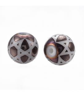 Koraliki szklane, zdobione - 8 mm - 10 szt