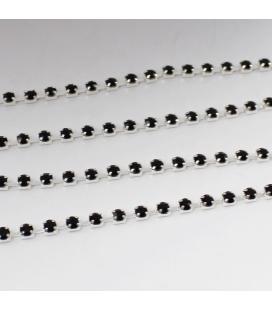 Łańcuszek z cyrkoniami 2x2mm - 1m