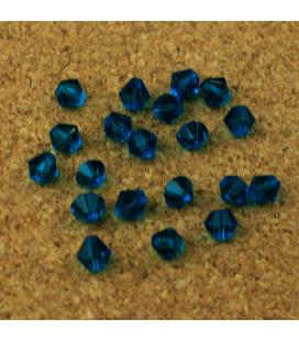 Kryształki bicone fasetowane 6 mm - 20 szt