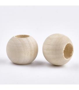 Koraliki  drewniane 20 mm - 10 szt.
