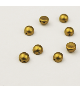 CzechMates Cabochon 7mm  Saturated Metallic Spicy Mustard  - 10 szt.