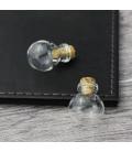 Fiolka ozdobna, buteleczka, zawieszka 20x35 mm - 1 szt.