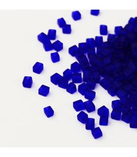 Miyuki Cubes 3 mm - Matte Transparent Cobalt -10g