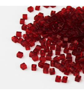 Miyuki Cubes 3 mm - Transparent Ruby -10g