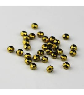 Kryształki oponki fasetowane 3x4 mm - 30 szt.