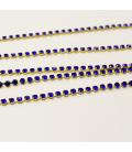 Łańcuszek z cyrkoniami 2 mm - 0,5 m