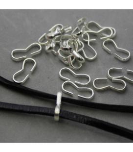 Зажим для лент и шнуров в цвете бронзы 2мм - 2г