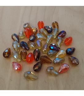 Kryształki łezki fasetowane 10x15mm - 12szt