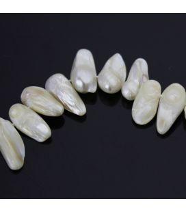 Perły słodkowodne hodowlane pastylki ok. 20mm - 10 szt