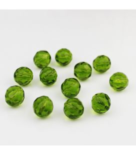 Бусины Fire Polish Olivine 12mm - 5шт