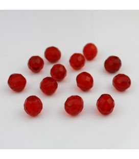 Fire Polish Siam Ruby 12mm - 5szt