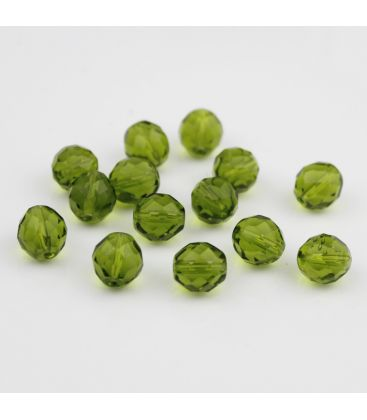 Fire Polish Olivine 10 mm