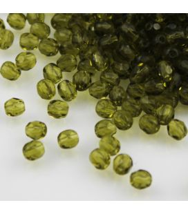 Fire Polish 4mm Dark Olivine - 120szt