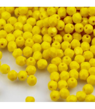Beads Fire Polish 4 mm Sunflower Yellow
