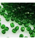 Beads Fire Polish 4 mm Green Emerald