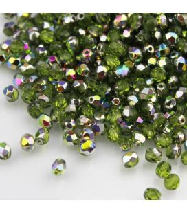 Fire Polish 4mm Vitral Olivine - 120szt