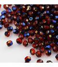 Beads Fire Polish 4 mm Blue Iris Slam Ruby