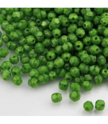Beads Fire Polish 4 mm Opaque Green