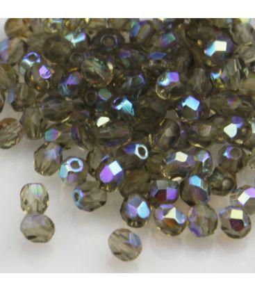 Beads Fire Polish 4 mm Black Diamond AB