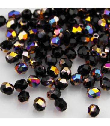 Beads Fire Polish 4 mm Vitex Jet