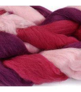 Czesanka z wełny owczej KNORR prandell Pink-Mottled 25g