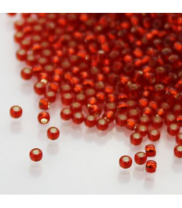 TOHO Round 11/0 Silver-Lined Siam Ruby - 30g