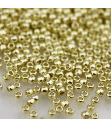 TOHO Round 11/0 Permanent Finish Galvanized Yellow Gold - 30g