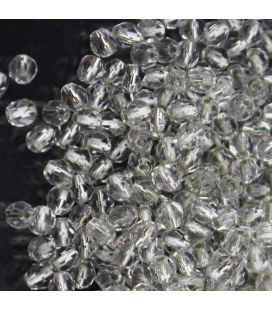 Fire Polish 3mm Silver Lined Crystal - 180szt