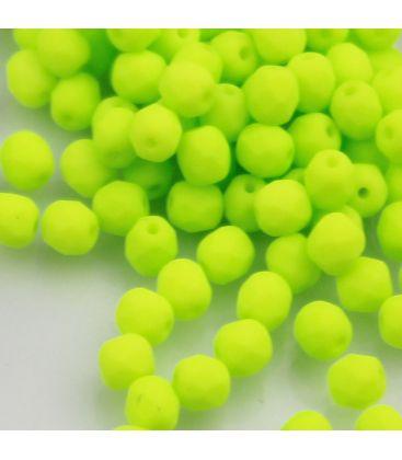 Beads Fire Polish 4 mm Neon/Green